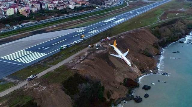 Τουρκία: αεροπλάνο γλίστρησε σε γκρεμό (βίντεο)