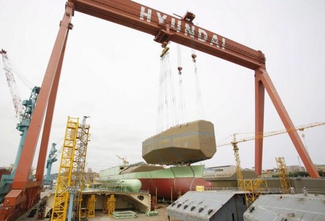 Αναστέλλει ένα μέρος των εργασιών της η Hyundai Heavy Industries