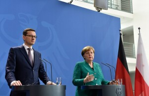 German chancellor Merkel meets Polish Prime Minister Morawiecki