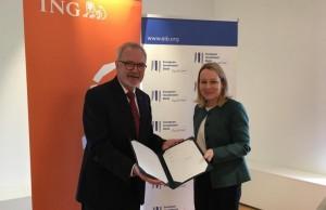 Ο Πρόεδρος της ΕΤΕπ κ. Werner Hoyer και η κ. Isabel Fernandez Niemann, Head of Wholesale Banking στην ING