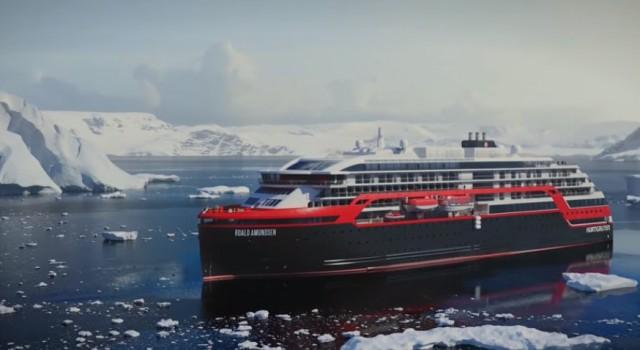 Νέο υβριδικό κρουαζιερόπλοιο καθελκύστηκε για την Hurtigruten
