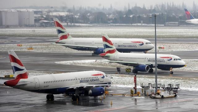 Ακυρώνονται πτήσεις από και προς το αεροδρόμιο του Χίθροου λόγω κακοκαιρίας