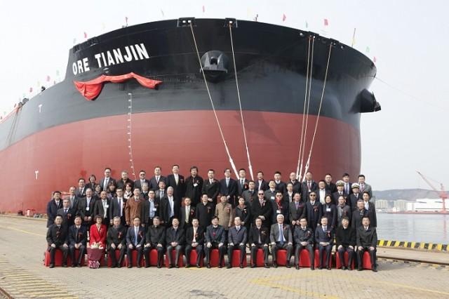 Παραδόθηκε στην Κίνα το μεγαλύτερο ore carrier του κόσμου
