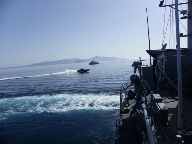 """Περιστατικό με τουρκικό εμπορικό πλοίο και την κανονιοφόρο """"Αρματωλός"""" νότια της Λέσβου"""
