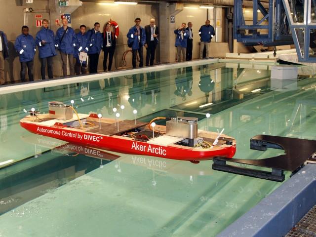 Η Aker Arctic πραγματοποιεί δοκιμές σε ένα νέο μοντέλο αυτόνομου πλοίου