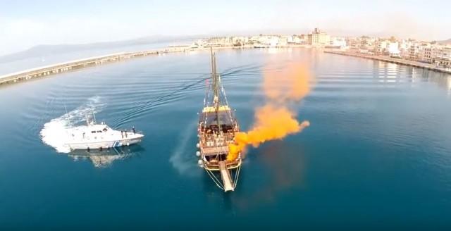 Άσκηση αντιμετώπισης πυρκαγιάς σε πλοίο