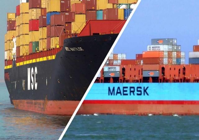 Σε αναστολή ορισμένες τακτικές γραμμές της Maersk και της MSC