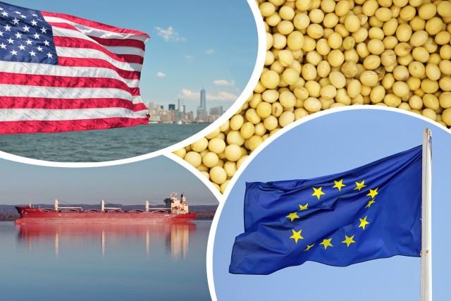 Γιγαντιαία αύξηση των εισαγωγών σόγιας της ΕΕ από τις ΗΠΑ