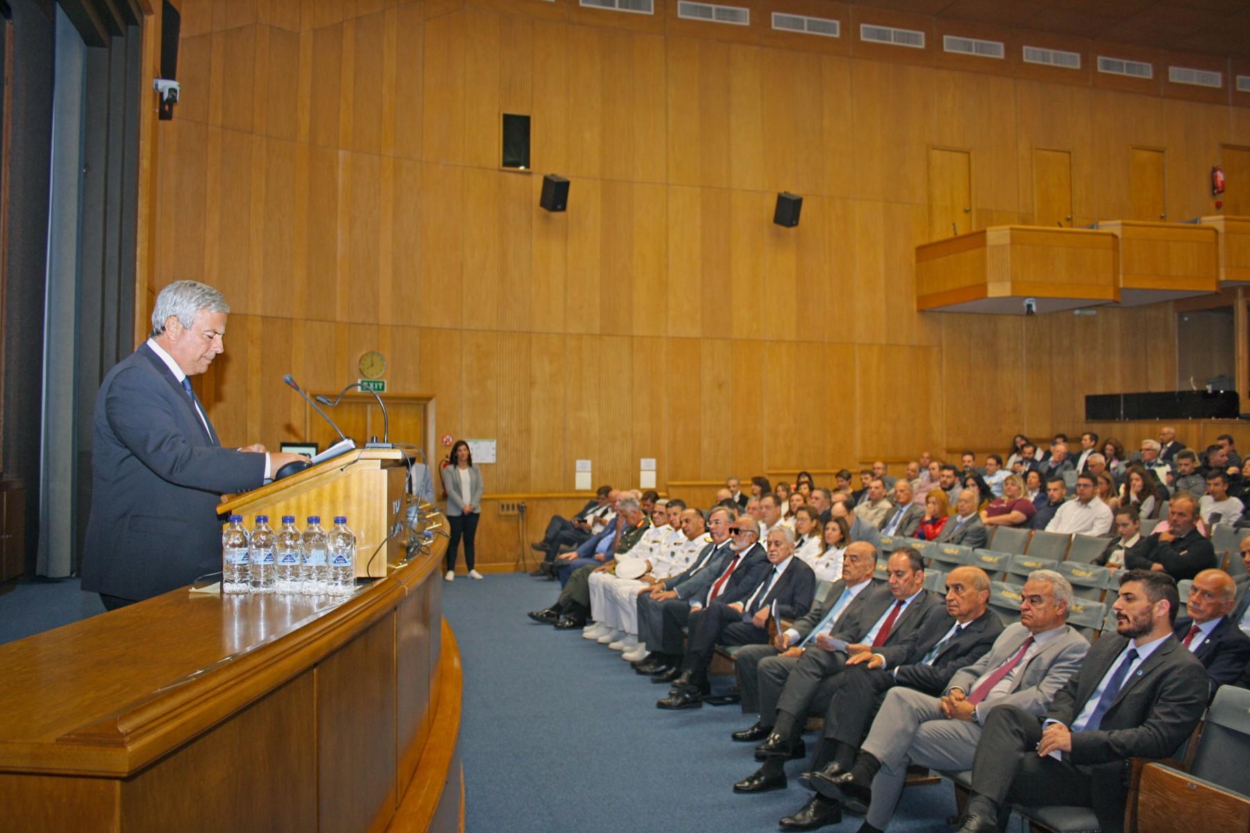 Ο κ. Λεωνίδας Δημητριάδης- Ευγενίδης, Πρόεδρος του Ιδρύματος Ευγενίδου και Πρεσβευτής του Διεθνούς Ναυτιλιακού Οργανισμού στην Ελλάδα