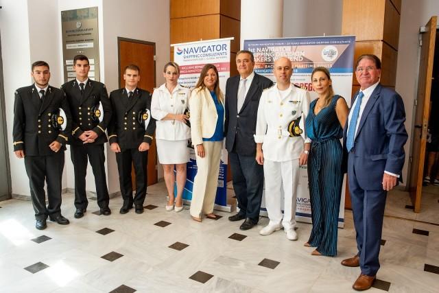 Ναυτικοί Δόκιμοι, Λιμενάρχης Χίου, Ειρήνη Αργύρη, Δανάη Μπεζαντάκου, CEO - Navigator Shipping Consultants, Dr. Γιώργος Πατέρας, Managing Director - Aegeus Shipping S.A. & Πρόεδρος του Ναυτικού Επιμελητηρίου της Ελλάδας, Διοικητής της ΑΕΝ Οινουσσών, Πλωτάρχης Παντελεήμων Βατούσης, Αθηνά Κανελλάτου, Regional Director, Mediterranean  – MACGREGOR,  Capt. Δημήτρης Μπεζαντάκος, Πρόεδρος - Navigator Shipping Consultants.