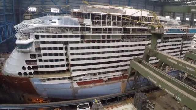 Ολοκληρώνεται σύντομα η ναυπήγηση του mega κρουαζιερόπλοιου «Spectrum of the Seas»
