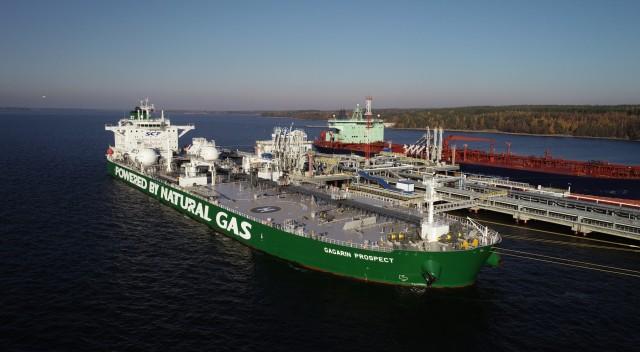 Το πρώτο Aframax που καίει LNG
