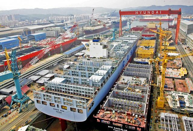 Σε δύσκολη θέση τα νοτιοκορεάτικα ναυπηγεία