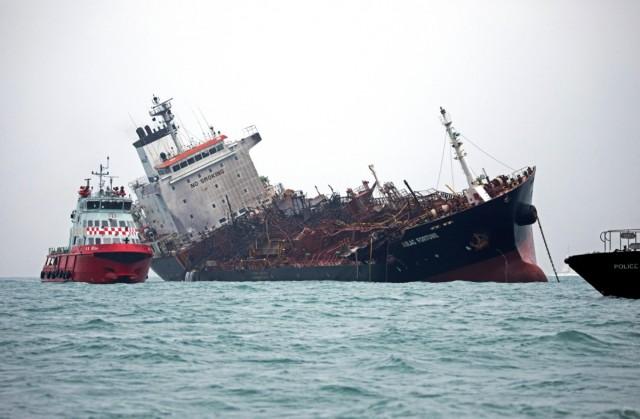 Πυρκαγιά σε δεξαμενόπλοιο νότια του Χονγκ Κονγκ