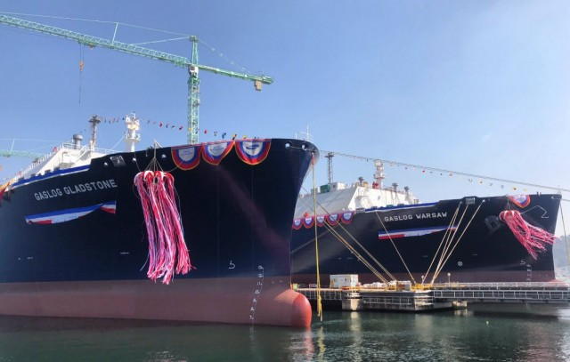 Τελετή ονοματοδοσίας για δύο νέα πλοία της GasLog