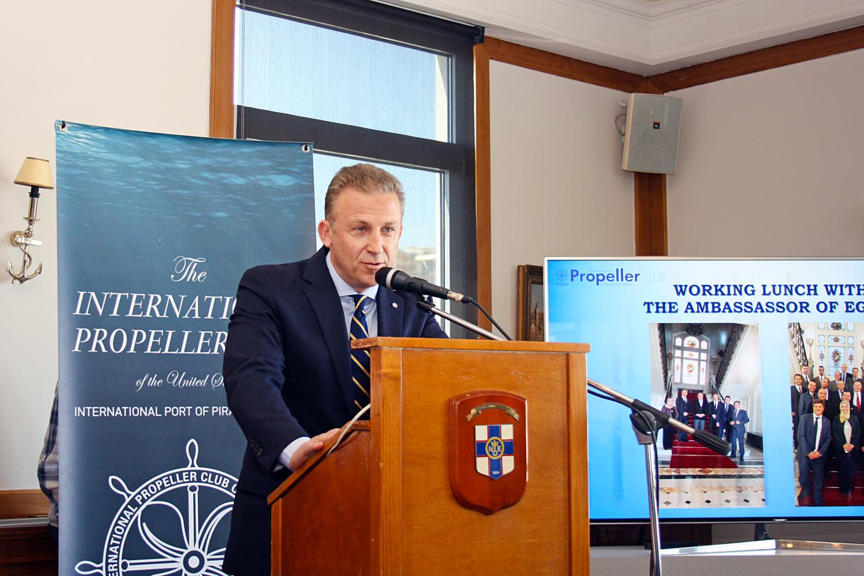 Ο κ. Κωστής Φραγκούλης, Πρόεδρος της Επιτροπής Άντλησης Πόρων του Propeller Club και CEO/ Founder του Franman Group