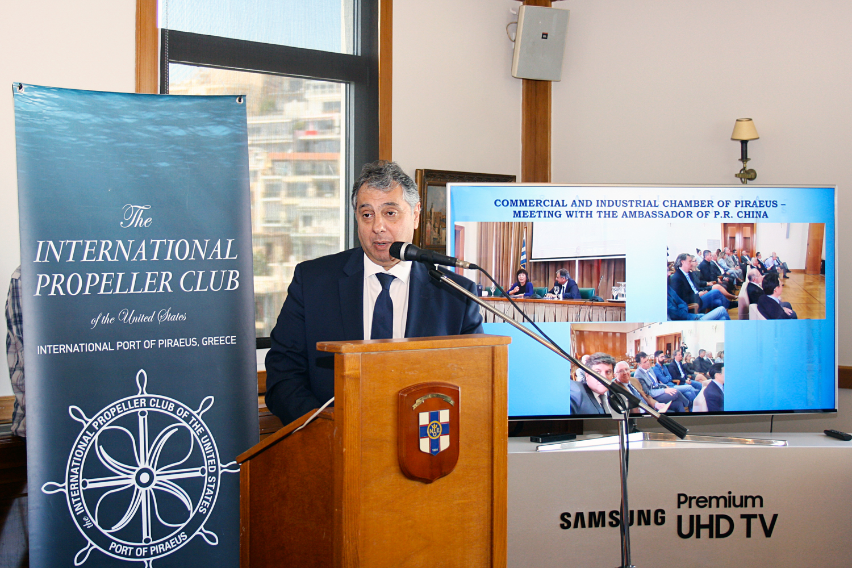 Ο κ. Βασίλης Κορκίδης, πρόεδρος του Εμπορικού & Βιοτεχνικού Επιμελητηρίου Πειραιά