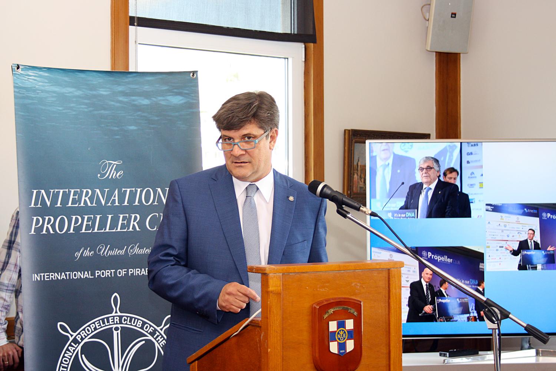 Ο κ. Γεώργιος Ξηραδάκης, πρόεδρος του Propeller Club- Port of Piraeus και υποψήφιος Ευρωβουλευτής με τη Νέα Δημοκρατία