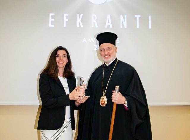 Ο Αρχιεπίσκοπος Αμερικής τιμήθηκε με Βραβείο Ευκράντη
