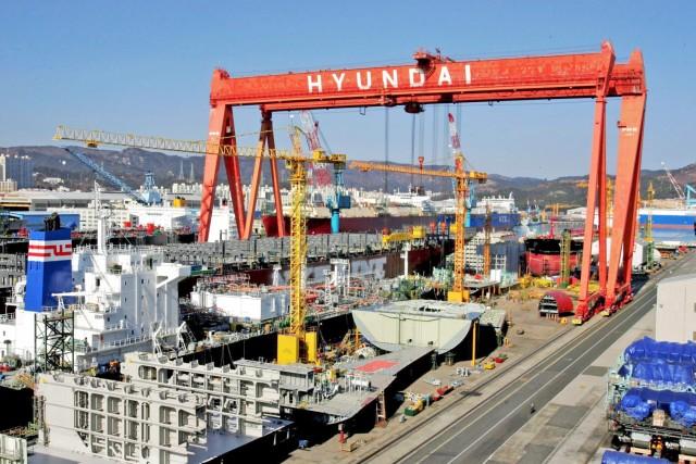Εν μέσω απεργιακού πυρετού η Hyundai Heavy Industries