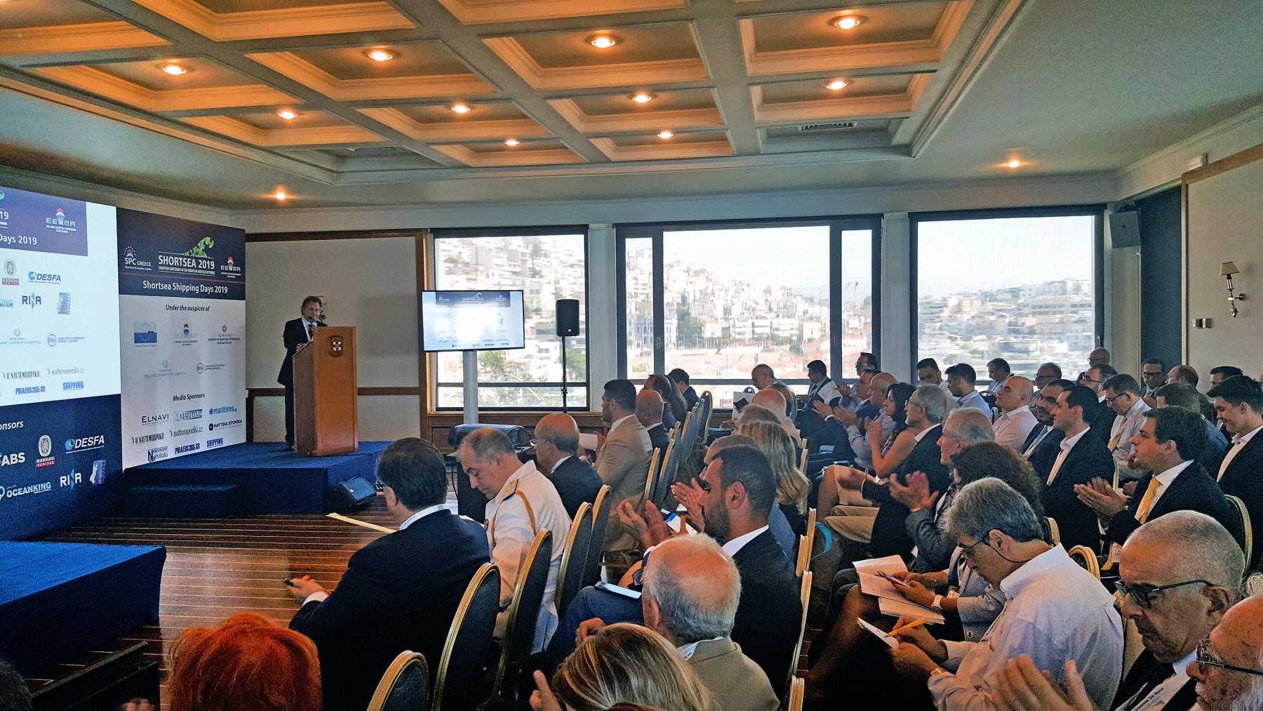 Ο κ. Χαράλαμπος Σημαντώνης, πρόεδρος της Ένωσης Εφοπλιστών Ναυτιλίας Μικρών Αποστάσεων.