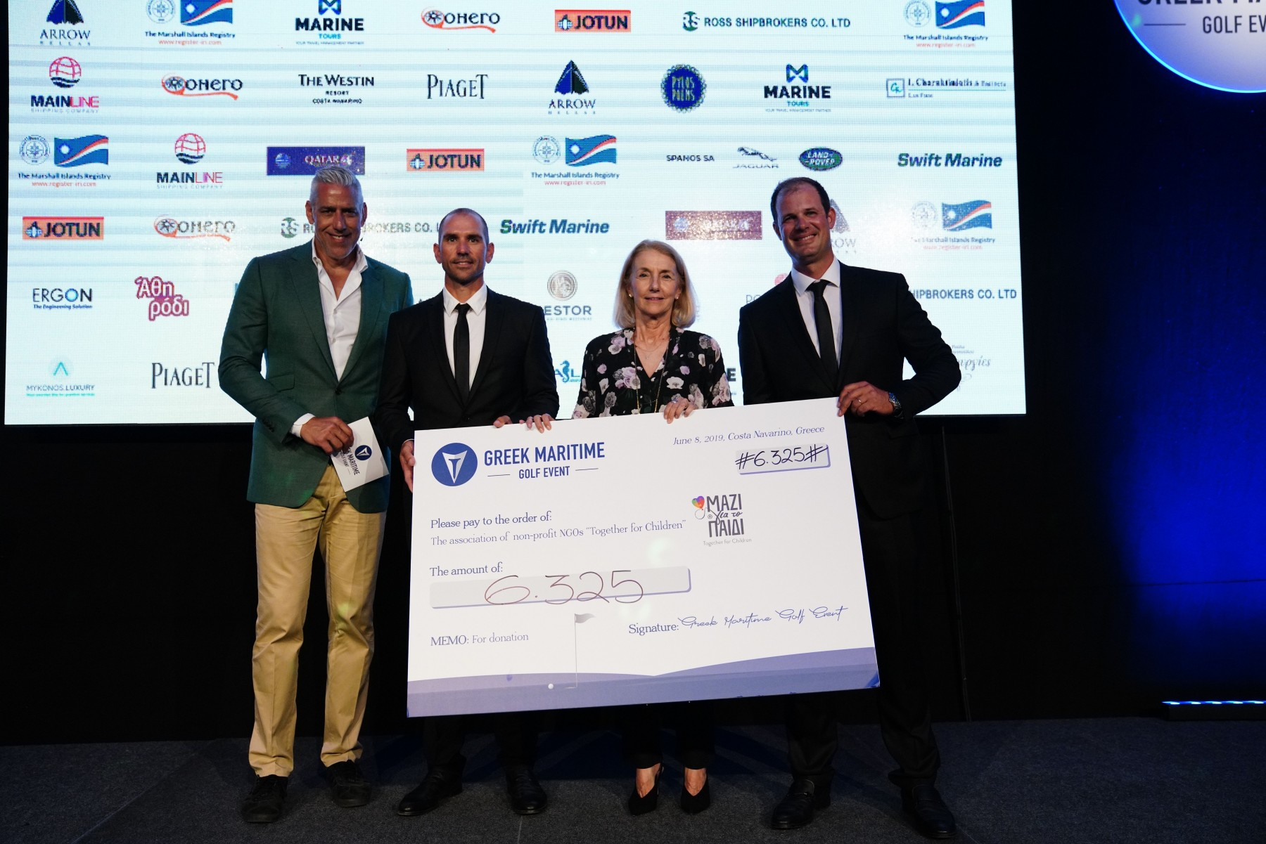 4_Greek Maritime Golf Event_Joe Arlauckas-Thanos Karantzias-Alexandra Martinou-Panagiotis Karantzias_by Charis Akriviadis