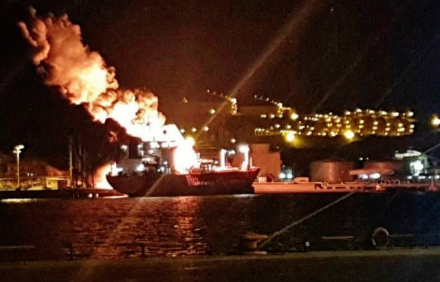 Πυρκαγιά ξέσπασε σε LPG Carrier στην Τουρκία