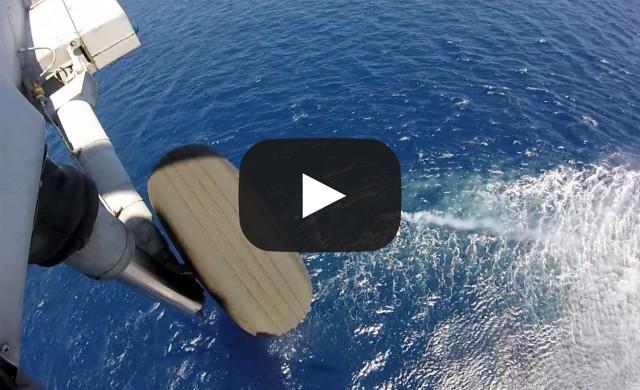 Διάσωση άνδρα από το Πολεμικό Ναυτικό (βίντεο)
