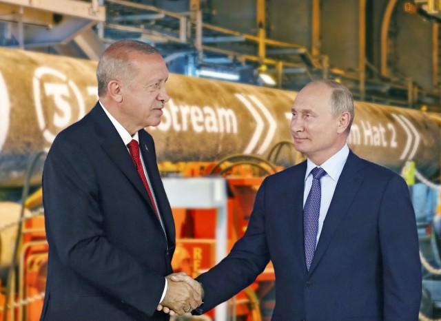 Πούτιν-Ερντογάν: σύμμαχοι (και) για το φυσικό αέριο