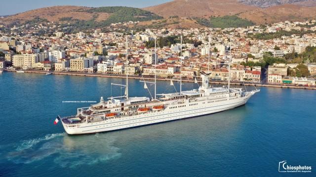 Χίος: Υποδέχθηκε το μεγαλύτερο ιστιοφόρο της γης