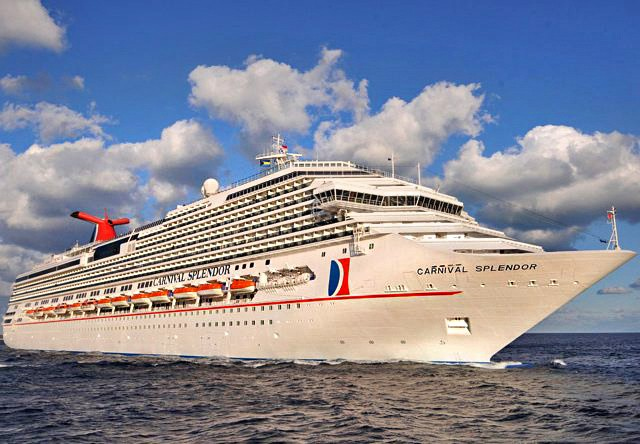 Cruise ship Carnival Splendor stalled off the coast of Mexico