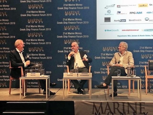 Οικονόμου-Παππάς συζητούν για την πορεία τους στη ναυτιλιακή βιομηχανία