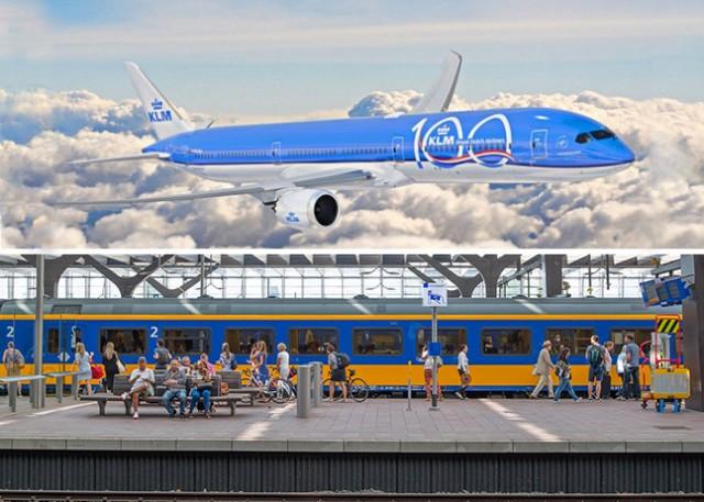 Υπέρ της χρήσης τρένου η αεροπορική KLM