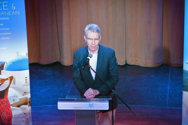 Celestyal Cruises: Υποδοχή του Αμερικανού Πρέσβη Geoffrey Pyatt