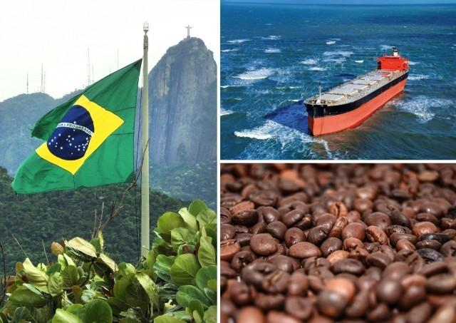 Πτωτική πορεία για τις εξαγωγές καφέ της Βραζιλίας