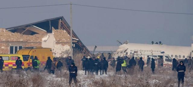 Αεροσκάφος συνετρίβη σε κτίριο στο Καζακστάν