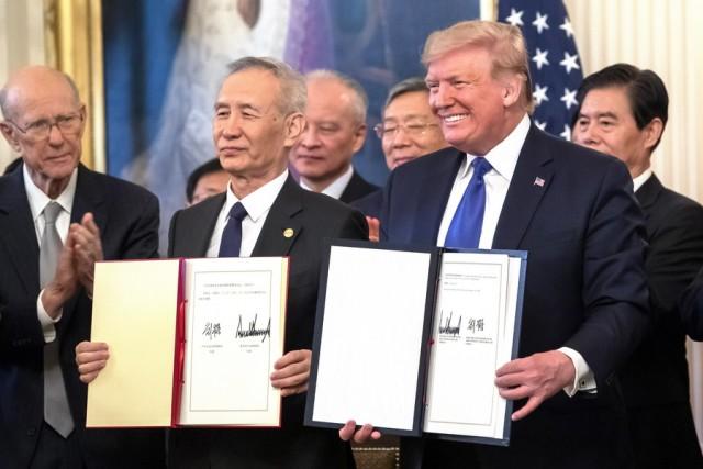 ΗΠΑ-Κίνα: Υπεγράφη η «Φάση 1» της εμπορικής συμφωνίας