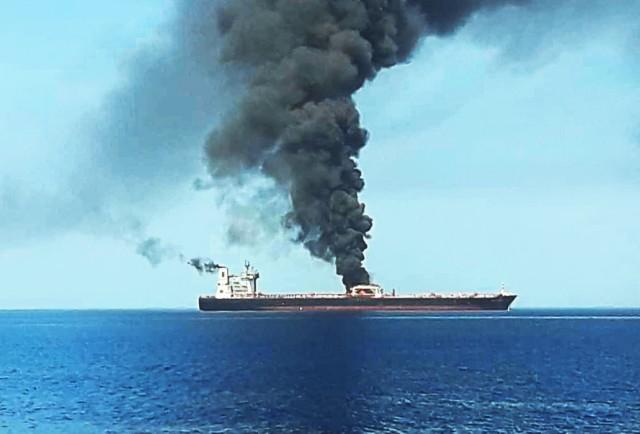 Πυρκαγιά σε δεξαμενόπλοιο στον Περσικό Κόλπο