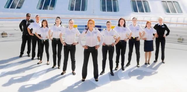 Παγκόσμια Ημέρα Γυναίκας: Ξεκίνησε η πρώτη κρουαζιέρα με πλήρωμα γένους θηλυκού