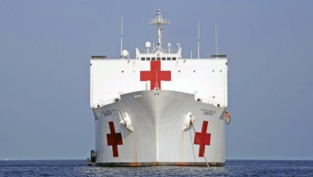 Στη Νέα Υόρκη το πλωτό νοσοκομείο «Comfort»