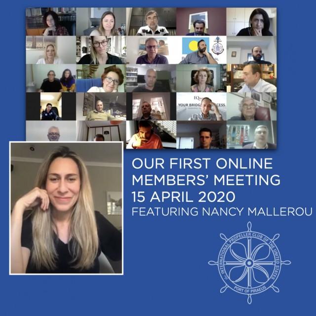 Το Propeller Club Πειραιά στην πρώτη διαδικτυακή συνάντηση μελών
