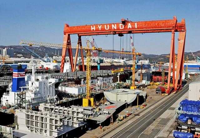 Τα ναυπηγεία της Νότιας Κορέας σε σύγχυση
