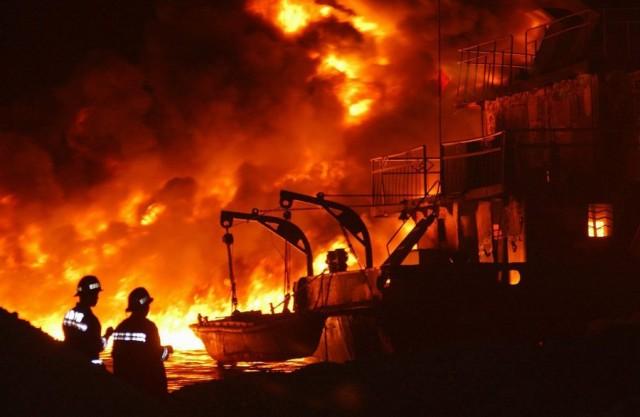 Iσχυρή έκρηξη σε κινεζικό chemical tanker