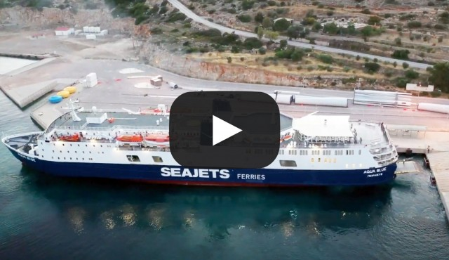 Aqua Blue: Εντυπωσιακές εικόνες από την άφιξη στο λιμάνι Μεστών