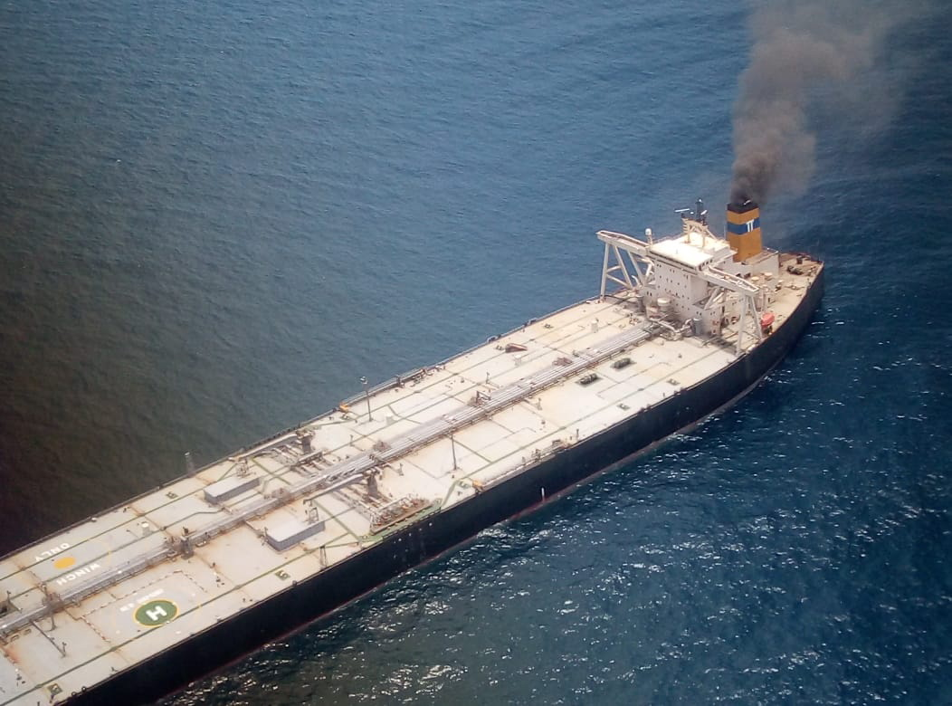 Ship fire off the east-coast of  Sri Lanka