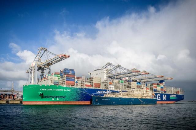 Νέα σελίδα στον ανεφοδιασμό containerships με LNG ως καύσιμο στο λιμάνι του Ρότερνταμ