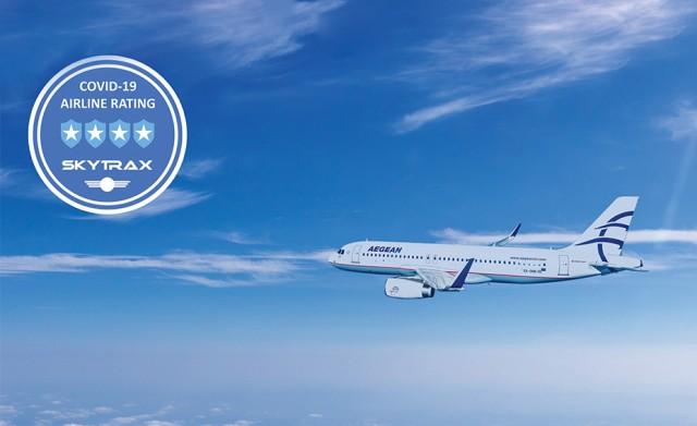 Η Αegean Airlines διακρίνεται για τα μέτρα προστασίας από τον COVID-19
