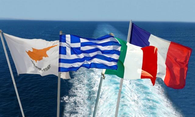 Ελλάδα-Ιταλία-Γαλλία και Κύπρος προσβλέπουν σε στενότερη συνεργασία στην Ανατολική Μεσόγειο