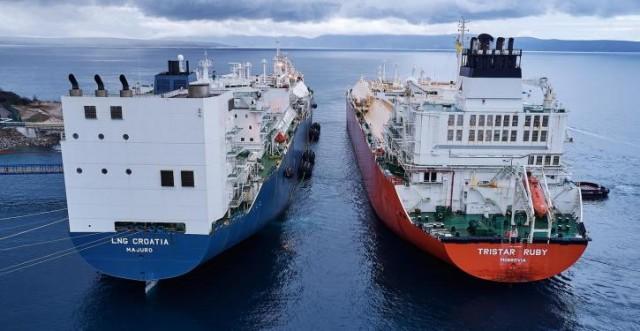 O τερματικός σταθμός LNG της Κροατίας υποδέχεται το πρώτο του πλοίο