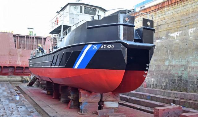 ΟΛΠ A.E. : Ο δεξαμενισμός του Αντιρρυπαντικού Σκάφους ΠΛΣ-420